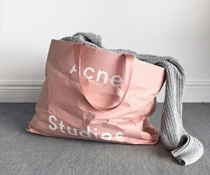 pink, acne studios, and grey image