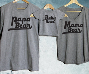 etsy, baby shower gift, and bear t shirts image