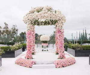 ceremony, decor, and flowers image