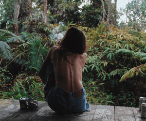 girl, nature, and body image
