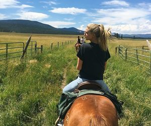 abby, country, and horse image