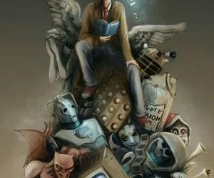doctor who, david tennant, and Dalek image