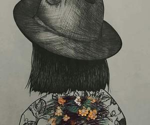 art, girl, and short hair image