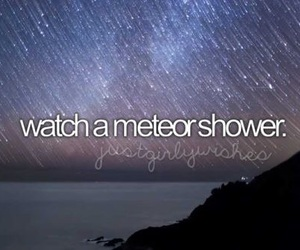 meteor, shower, and bucket list image