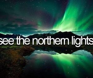 bucket list and northern lights image