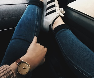 addidas, beautiful, and jeans image