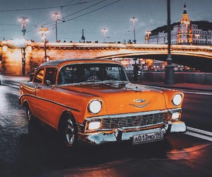 car, moscow, and retro image