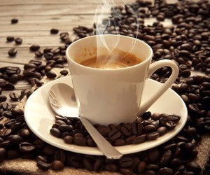 beans, cafe, and coffee image