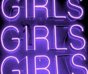 girl, purple, and neon image