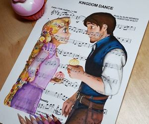 tangled, music, and rapunzel image