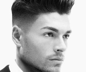 men, guy, and hairstyle image
