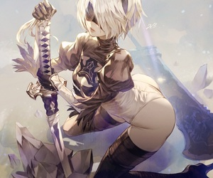 video games and 2b image