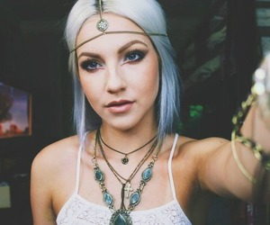 girl, makeup, and hippie image