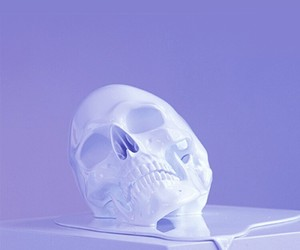 purple, skull, and aesthetic image