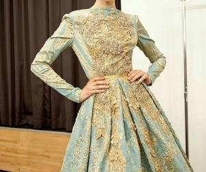 fashion, elie saab, and blue image