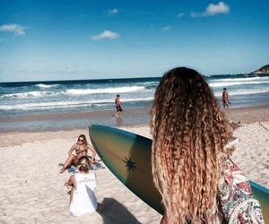 bag, beach, and blond image