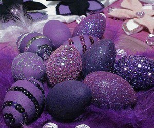 purple, easter, and easter eggs image