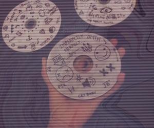 beautiful, cds, and purple image