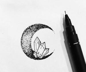 drawing+ and art moon crystals image