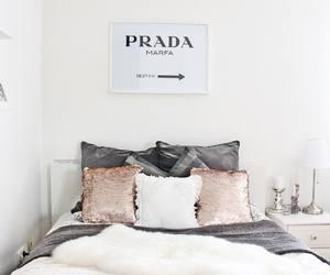 bedroom, decor, and Prada image