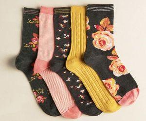 socks, black, and fashion image