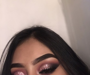makeup, glitter, and goals image
