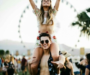 coachella, couple, and love image