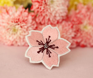 accessoires, cherry blossom, and embroidery image