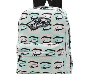 backpack, eye, and vans image