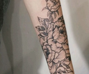 tattoo, flores, and flowers image
