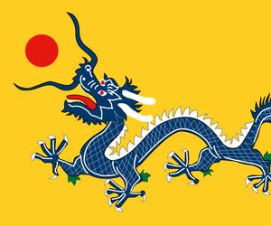 china, dragon, and flag image