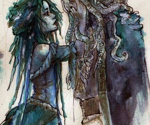 pirates of the caribbean, art, and Calypso image