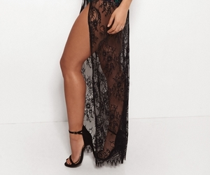 black, fashion, and lace image