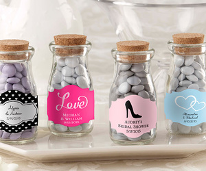 wedding favors, candy jars, and mini mason jars image