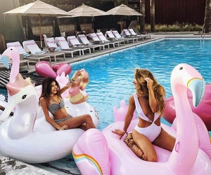 Best, girls, and pool image