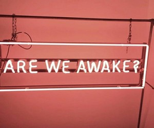 awake, morning, and sign image
