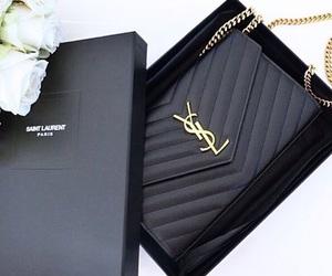 black, YSL, and bag image