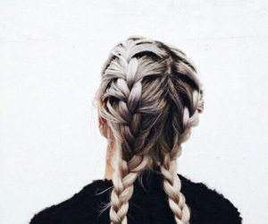 blonde, braids, and Chick image