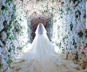 bride, wedding, and bridal image
