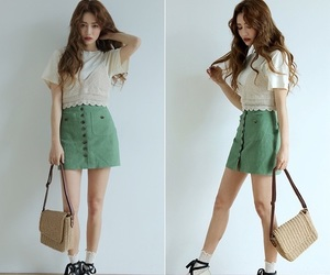 fashion, korean fashion, and skirt image
