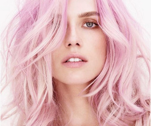 hairstyle, millennial pink, and pink image