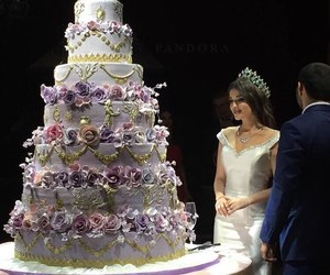 wedding, beauty, and cake image