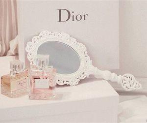 dior, mirror, and perfume image