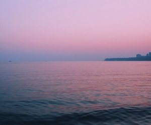 pink, purple, and sea image