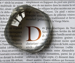 d, letters, and object image