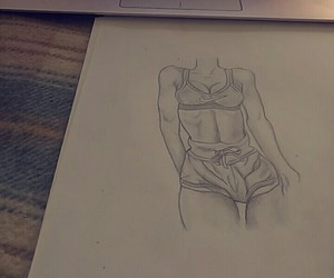 girl, draw, and sport image