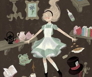 alice, art, and wonderland image