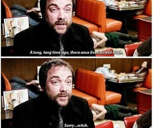 supernatural, crowley, and funny image
