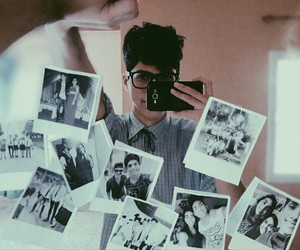 memories, mirror, and polaroid image