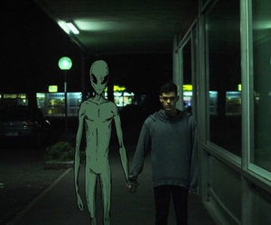 alien, grunge, and boy image